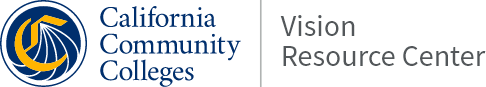California Community Colleges Vision Resource Center Logo